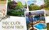 Review từ quang cảnh đến mâm cỗ của 9 địa điểm tổ chức đám cưới ngoài trời tại Hà Nội