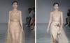 Diện váy mạ vàng 24K, Khánh Linh cùng lúc làm first face lẫn vedette trong show Trần Hùng tại London Fashion Week