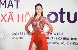 Dàn Hoa hậu khoe sắc tại thảm đỏ sự kiện ra mắt MXH Lotus: Lương Thùy Linh nổi bật với đầm đỏ kiêu sa