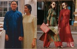 """Học Hà Tăng và Yến Trang – Yến Nhi chọn giày dép kết hợp cực """"nuột"""" với áo dài, đã vậy còn tôn dáng hết cỡ"""