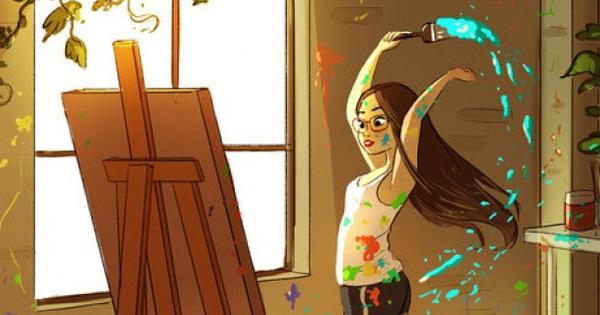 """Bộ tranh phác họa """"đặc quyền"""" của phụ nữ độc thân khiến chị em chồng con đề huề cũng mơ được… """"ế"""""""