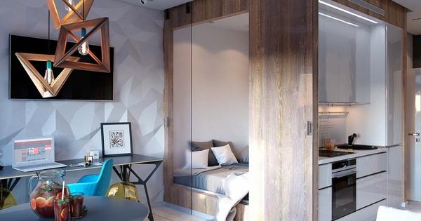 Ấn tượng với thiết kế của căn hộ vỏn vẹn 30m² có những gam màu trang trí vô cùng bắt mắt