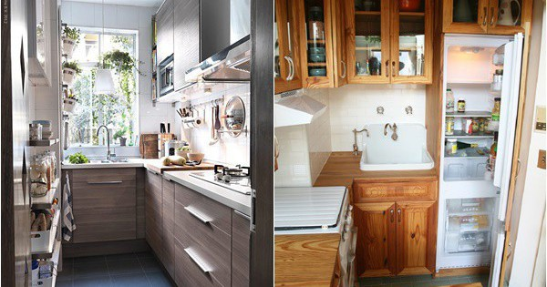 Thiết kế nhà bếp chỉ 2m² thật dễ dàng nhờ sự thông minh và sáng tạo