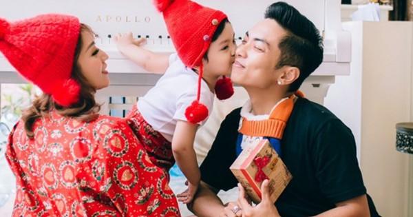 Vợ chồng Khánh Thi, Phan Hiển đón Giáng sinh ấm áp bên con trai
