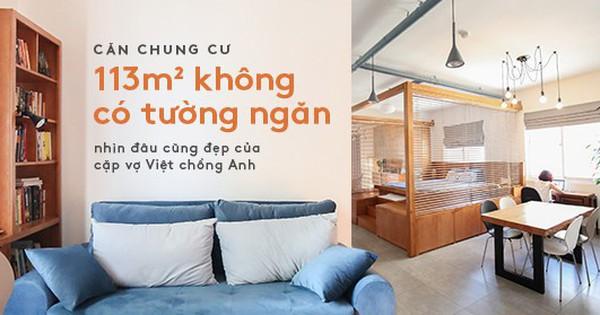 Căn chung cư 113m² không có tường ngăn, nhìn đâu cũng đẹp của cặp vợ Việt – chồng Anh