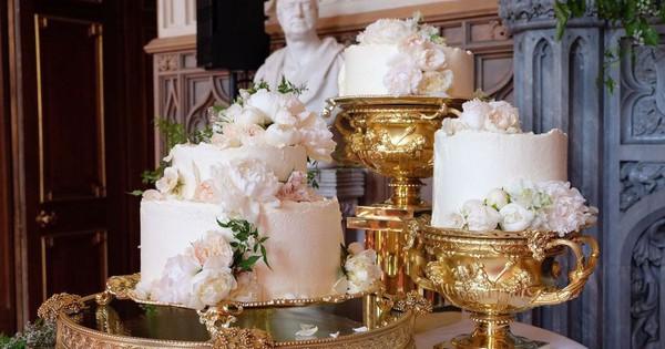 """Đây rồi: Hình ảnh chiếc bánh cưới Hoàng gia vốn được giữ """"tuyệt mật"""" giờ đã lộ diện đẹp mê mẩn thế này"""