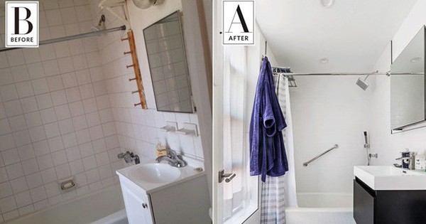 2 phòng tắm dưới 5m² lột xác đẹp ngỡ ngàng sau khi cải tạo