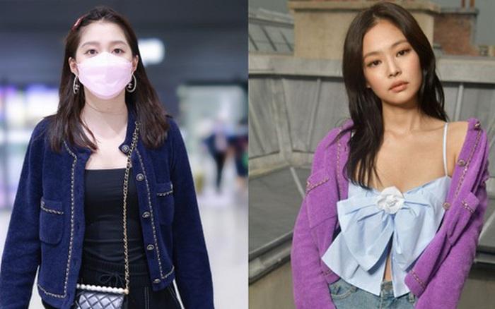 Đụng áo Jennie đã mặc từ 1 năm trước, Quan Hiểu Đồng lên đồ an toàn vẫn bị chê