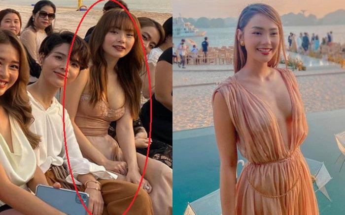 2 lần Minh Hằng diện váy phô diễn vòng 1 dự đám cưới: Bộ tại lễ cưới Đông Nhi nhìn nền nã hóa ra cũng có khoảnh khắc