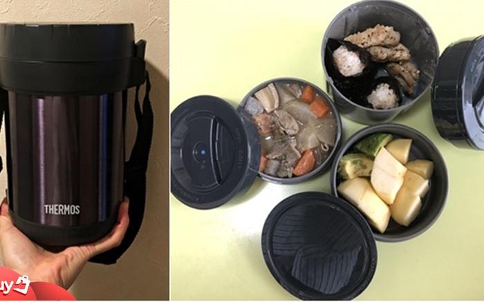 Review hộp cơm giữ nhiệt Thermos giá tiền triệu: Quả là đồ Nhật, giữ nhiệt tốt, thiết kế đẹp, chỉ có điều