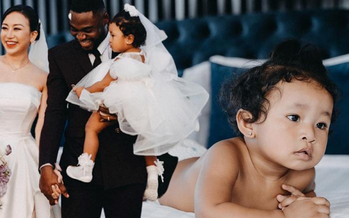 """Tiểu thư Hà Nội lấy chồng châu Phi, sinh con ra chê ỏng chê eo """"xấu thế"""" nhưng ngoại hình hiện tại của bé thay đổi đầy bất ngờ, nhất là làn da"""