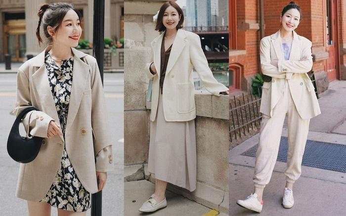 Chỉ với một kiểu blazer, nàng fashionista đã mix được cả chục set đồ xịn đẹp, thấy mà chẳng muốn shopping nhiều cho phí tiền