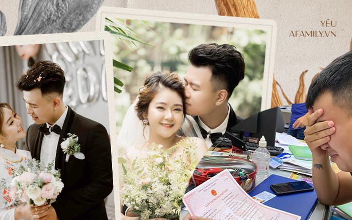 Chuyện hôn nhân thu hút 21 nghìn like của cặp đôi quen nhau vì một cái bàn, lần đầu tiên gặp vào lúc 3 giờ sáng và bức hình che mặt khóc ngày kết hôn