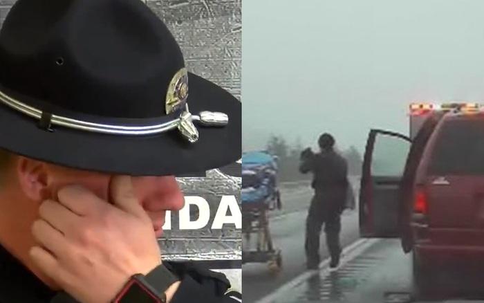 Yêu cầu ô tô dừng lại kiểm tra, viên cảnh sát nhìn thấy 1 người phụ nữ và 2 đứa trẻ bên trong liền ra tay bắt giữ tài xế