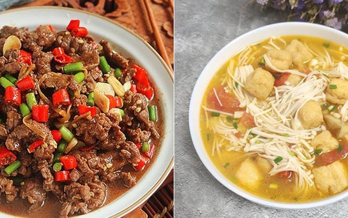 Bữa tối 2 món đơn giản nấu nhanh lại ngon cơm đây rồi, các mẹ tham khảo ngay!