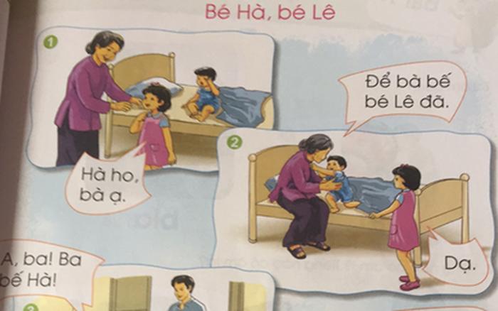 """Nội dung bài tập đọc trong sách giáo khoa lớp 1 đang gây nhiều tranh cãi: """"Bé Hà bị ho"""