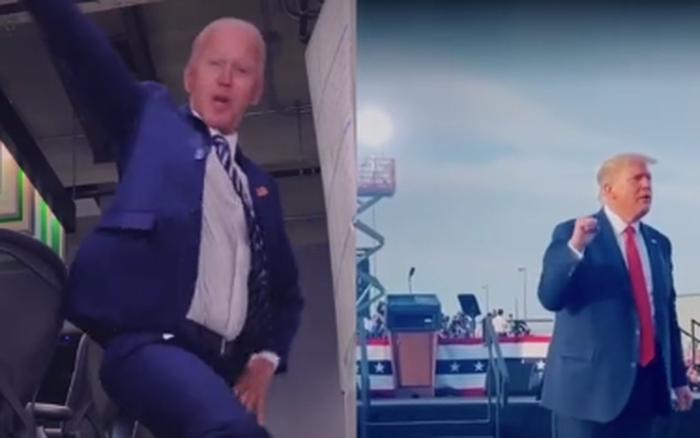 Xuất hiện hình ảnh Tổng thống Trump và ông Joe Biden