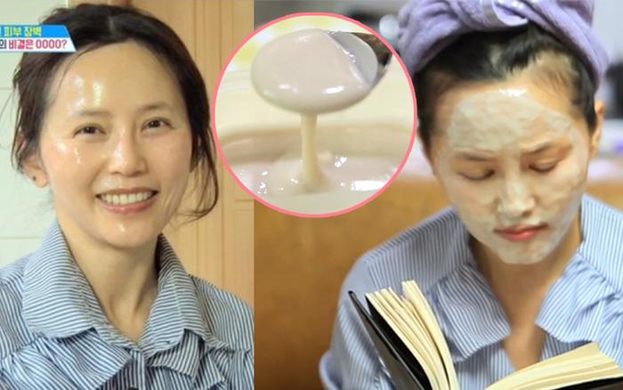 Người phụ nữ Hàn đã 53 tuổi mà da vẫn căng bóng không 1 nếp nhăn nhờ chăm đắp mặt nạ da lợn