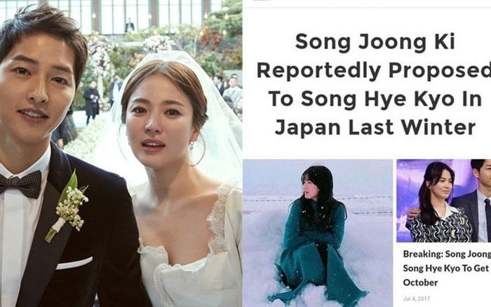 Bức ảnh Song Hye Kyo đăng tải mừng tuổi 39 được chụp đúng ngày Song Joong Ki cầu hôn cô vào năm 2017 tại Nhật Bản?