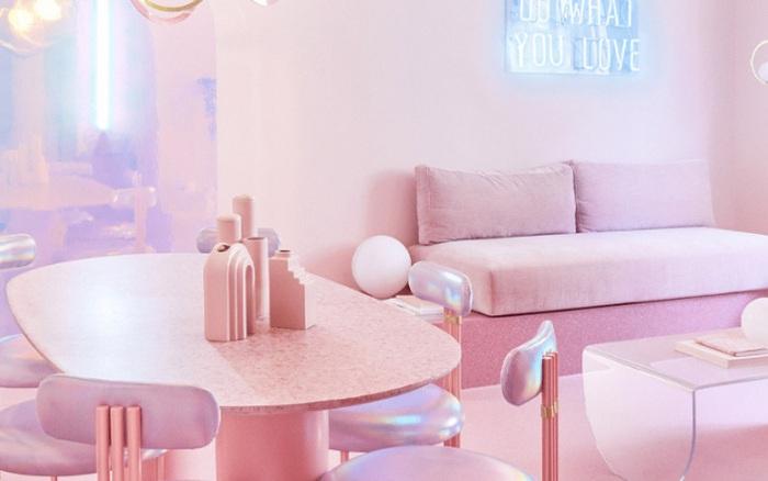 Căn phòng 16m² màu hồng tưởng như chỉ có trong cổ tích đẹp ấn tượng với 12 sắc hồng độc lạ