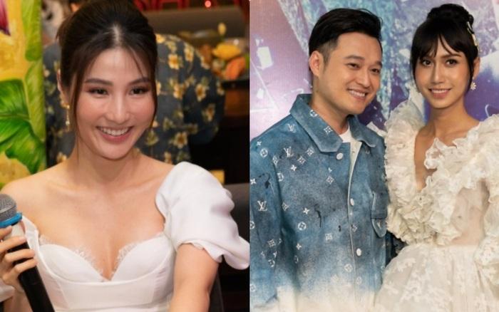 """Diễm My 9X xinh như công chúa bên Quang Vinh nhưng tâm điểm chú ý lại thuộc về Lynk Lee với bộ đầm """"chặt chém"""""""