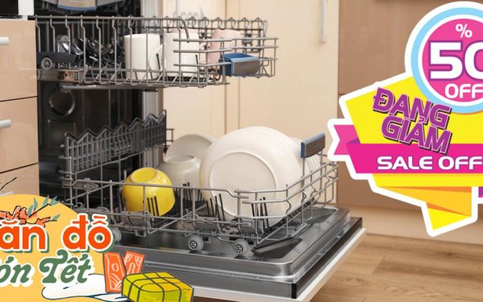 Săn đồ đón Tết: 3 thương hiệu máy rửa bát nhập khẩu nổi tiếng đang sale tới 53%, toàn là những dòng