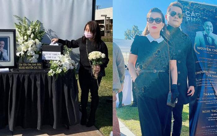 Cùng có mặt tại tang lễ cố nghệ sĩ Chí Tài với vợ cũ, Hoàng Anh vô tư ôm eo