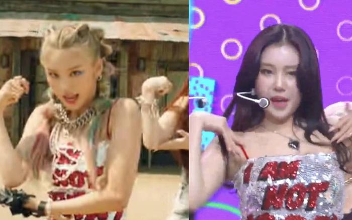 Hết Nancy (MOMOLAND), lại đến nữ idol xấu nhất Kpop đụng hàng với