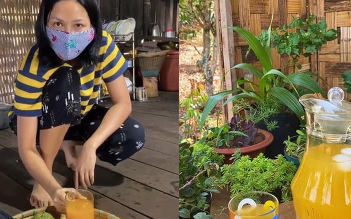 Học lỏm H'Hen Niê cách pha trà ô long cam sả cực lạ