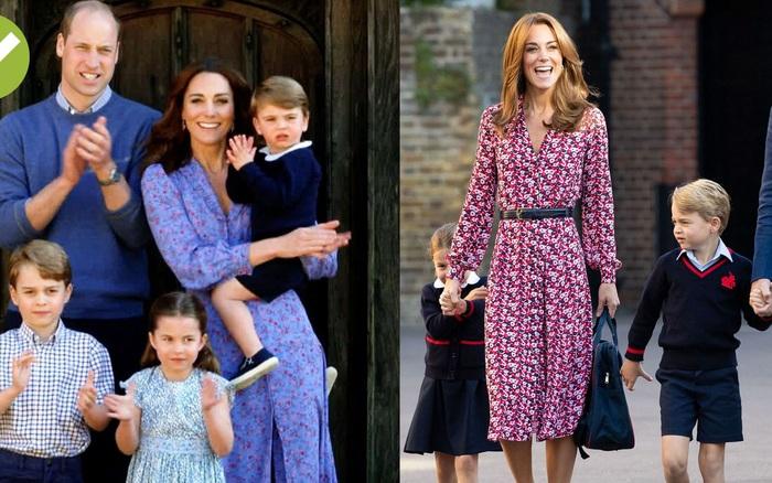 Công nương Kate mặc váy hoa nhí mùa hè trẻ trung bất ngờ