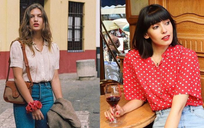 Chị em nước Pháp thích áo sơ mi ngắn tay cực kỳ, diện lên trẻ trung