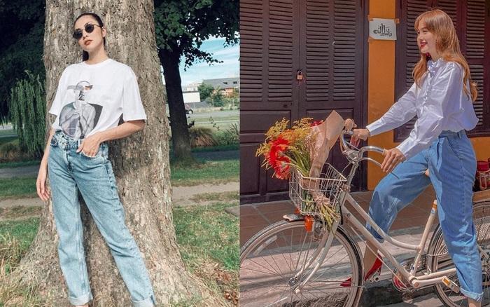 Các mỹ nhân 8x của Vbiz cực kết một mẫu quần jeans hack tuổi siêu phàm