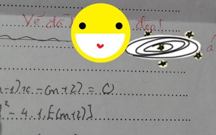 Cô giáo chê vẽ đồ thị xấu, nhưng nữ sinh mừng ra mặt, hóa ra vì lời phê ngọt ...