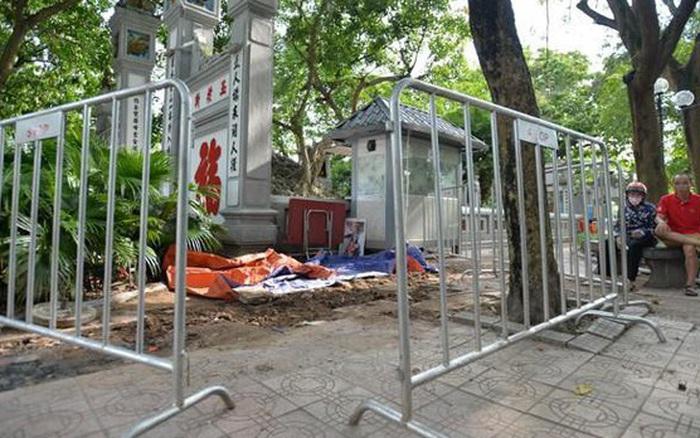 Phát hiện 7 tiểu sành chôn ngay dưới khu vực đền Ngọc Sơn