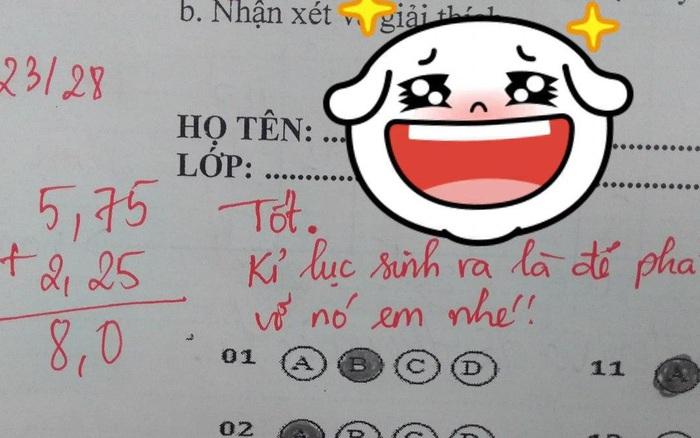 Cô giáo quá bận nên nhờ người chấm bài giúp, học ...