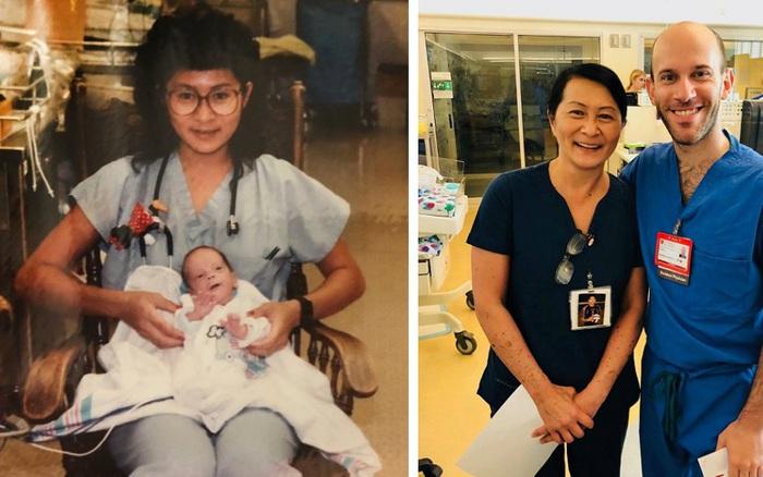 """Nữ y tá gặp lại """"em bé"""" sinh non từng chăm sóc ..."""
