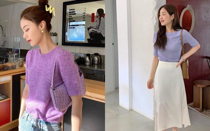 4 items kết hợp cực nuột với áo tím hot hit, chị em diện lên chỉ đẹp ...