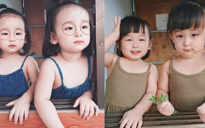 Cặp sinh đôi giống nhau như 2 giọt nước: Mẹ thường xuyên nhầm, được khen giống diễn ...