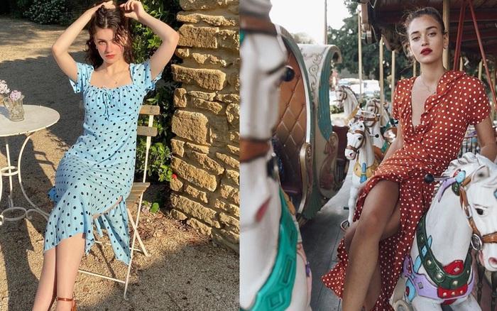 Cách mặc đồ chấm bi đẹp và sang như phụ nữ Pháp