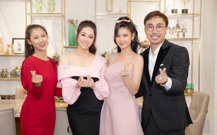 Trương Quỳnh Anh, Kim Tuyến, Nhật Kim Anh đọ sắc hồng khi cùng tham gia một sự kiện