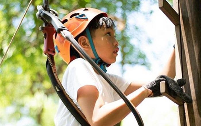 Subeo 10 tuổi đã được mẹ Hồ Ngọc Hà cho thử thách trò chơi mạo hiểm,