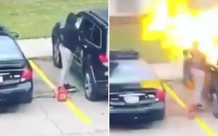 Cô gái nhận quả đắng ngay sau khi tưới xăng đốt xe trả thù người yêu ...