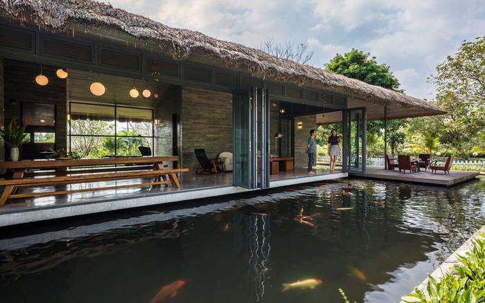 Nhà vườn nằm trọn giữa vườn cây ao cá đẹp an yên, tĩnh lặng ở Long An