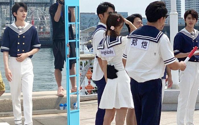 Running Man: Angelababy mặc đồ thủy thủ xinh xắn, Thái Từ Khôn khoe chân siêu dài lấn át các đàn anh