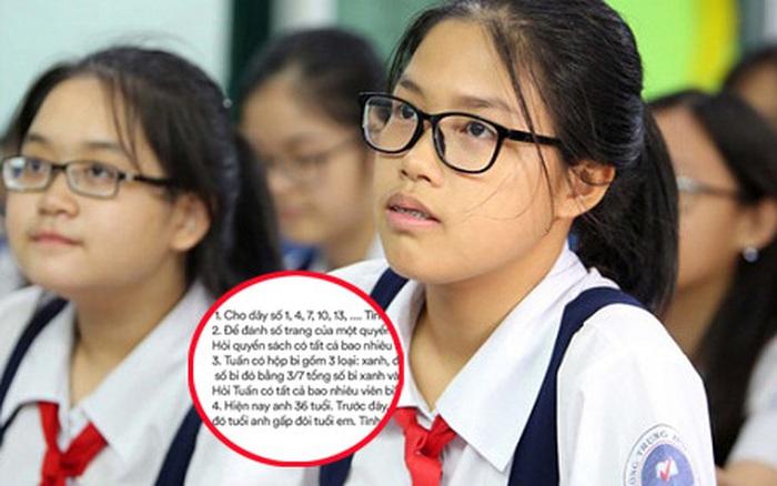 Các dạng đề toán tuyển sinh lớp 6 của THCS Nguyễn Tất Thành và THCS ...
