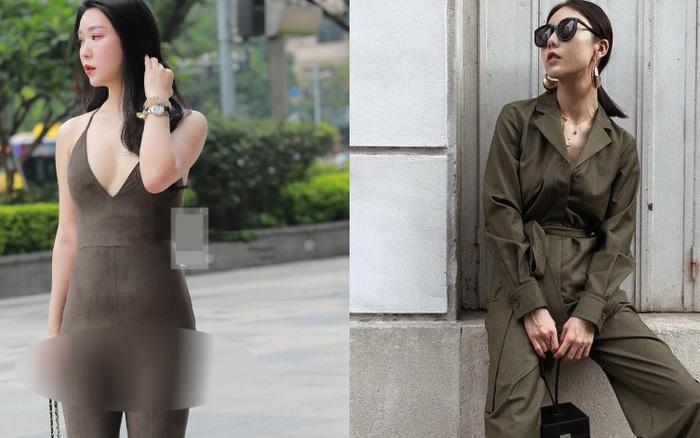 Vô tư khoe dáng nhưng lại khiến dân tình ngán ngẩm trước kiểu ăn mặc nhạy cảm: Chị em có mặc jumpsuit hack chiều cao thì đừng như cô gái này