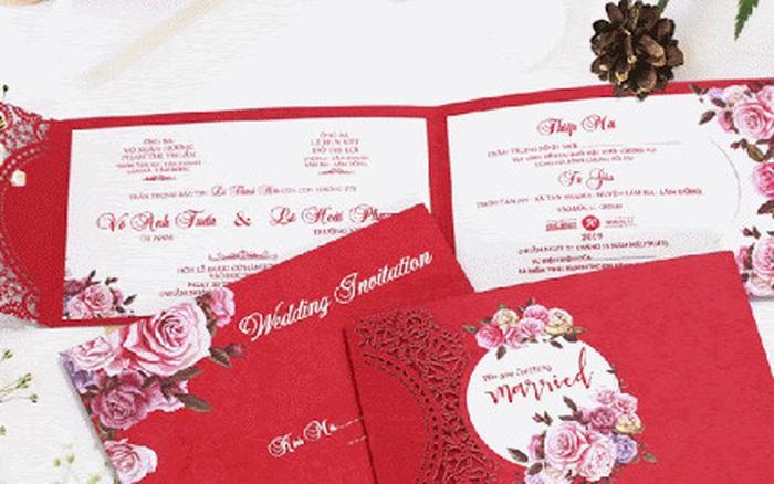 Tiết kiệm chi phí tối đa với 8 mẫu thiệp cưới giá dưới 3.000 đồng dành cho ...