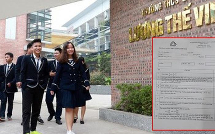 Đáp án chi tiết đề thi môn Toán vào lớp 6 trường THCS Lương ...