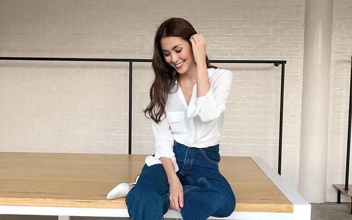 Hà Tăng mặc sơ mi trắng đơn giản mà cực sang