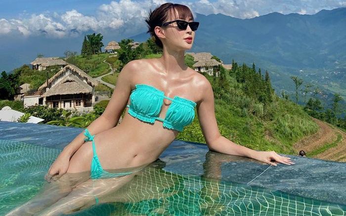 """Sun HT diện bộ bikini hot nhất hè này để khoe vòng 1 """"mới ..."""